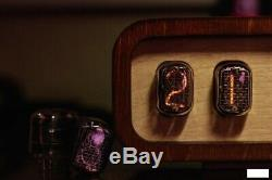 Retro Nixie Tube Clock on soviet tubes IN-12 Unique Gift Vintage Hand Made Clock
