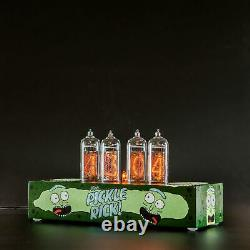 Rick and Morty Nixie Tube Clock IN-14 Replaceable Nixie Tubes, Motion Sensor