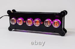 SONYA NIXIE IN-4 Tubes Desk Clock + Case + Power Supply + Remote + RGB + Effects