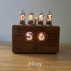 Tiny six digit Nixie Clock with Jumbo Tubes and remote control