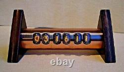 Tobleron Nixie Clock with IN17 tubes copper case steampunk by Monjibox