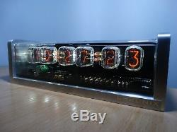 Unique 6xIN-12 Nixie Tubes Clock CNC machined aluminum case white led alarm