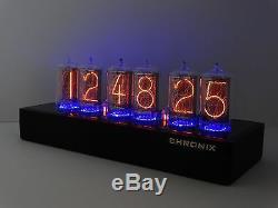 Unique Nixie Clock With 6x Z566m Large Tubes Blue Led