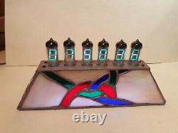 Unity Stained Glass Alarm Clock with WiFi NTP IV11 VFD tubes Monjibox Nixie
