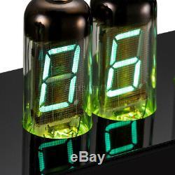 Vintage Desk 6× IV-11(-11) Nixie Tubes Clock VFD Digital Clock Assembled Gifts