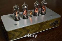 Vintage Nixie Tube CLOCK IN-14 Retro Clock IN14 VIDEO INSIDE