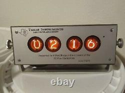 Vintage Texas Instruments Nixie Tube Clock 1970 TID Dedication Deutschland GMBH