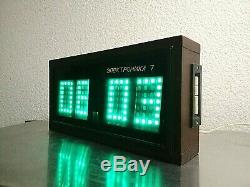 Vintage USSR Elektronika 7 Space Age Nixie Tube Lamps Wall Clock. Rare