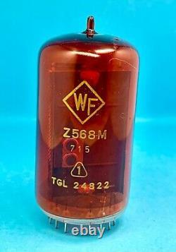 Z568M WF RFT NIXIE NUMERIC INDICATOR TUBES FOR CLOCK, USED, Lot 2 pcs