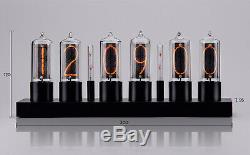 ZIN18 IN18 New Nixie Tube Clock Black Aluminium Case WIFI Android/Iphone Setup