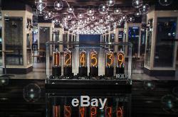 ZIN18 IN18 Nixie Tube Clock Black Aluminium Base Big Sizw 15 Years Warranty
