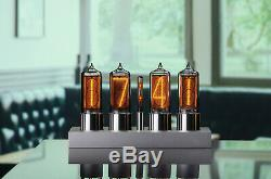 ZIN18 IN18 Nixie Tube Clock Silver Anodized Aluminium Case WIFI Android/Iphone