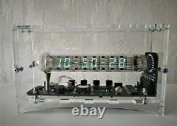 100% Nouveau Main Nixie Tube Clock 12/24 Affichage De L'heure Horloge Du Tube De Glace Adafruit