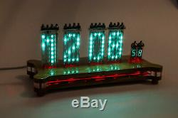 16x Vfd Ivlm1-1 / 7 Tubes À Matrice De Points Desk Clock Texte Era Scrolling Nixie