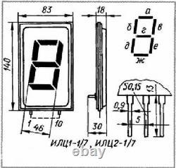 2 Pcs Ilc1-1/7 Ilc1-1-7 Vfd Tube Énorme Plus Grand Monstre Géant Rare Nixie Horloge 3 4