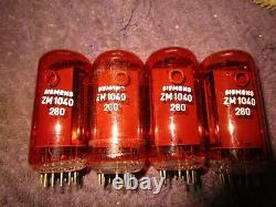 (4) Lot De Tubes Rare Assorti Seimens Garantis Zm1040 Zm 1040 Nixie Clock Tubes