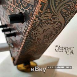 4x In-12 Tubes Nixie Steampunk Réveil Par Triangulum Copper Cat Art Group