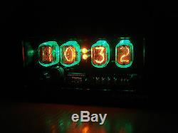4xin-12 Horloge Nixie Tubes Led Rétro-éclairage Et Alarme Steampunk Vintage Retro Montre