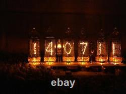 5 Jours De Livraison! Horloge De Tube De Nixie Dans 14 Bleu, Horloge De Nixie, Horloge De Tube De Nixie