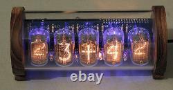 5 Tubes Nixie Clock V3 (kit Diy, Avec Boîtier Perspex Et Chêne)