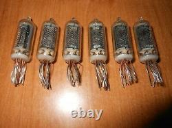 6 Pcs Z5900m Nixie Tubes Pour Kit D'horloge. Utilisé, Testé, Tout Parfait