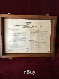 6 Tube Nixie Horloge À L'intérieur Du Pont Megger Test Set