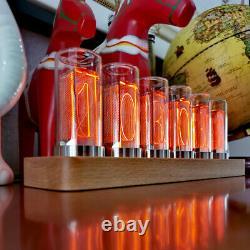 6-digit Led Glow Tube Alarme Bois Massif Nixie Tube Alarme Cadeau Maison Décor