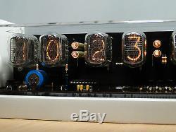 6xin-12 Nixie Tuyaux Clock Étui Blanc Et Bleu Led Rétro-éclairage Et Alarme Vintage Rétro