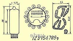 8 X Iv-2 Iv2 Indicateur Vfd Tubes Nixie Clock Set Rarest Tubes Alien Digits