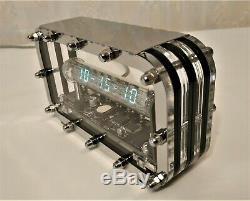 Adafruit Glace En Tube Horloge Iv-18 Vfd Horloge Tube Nixie Steampunk Horloge De Bureau Classique