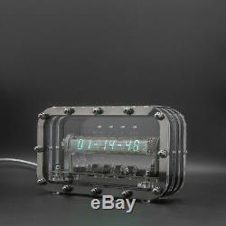 Adafruit Ice Tube Iv-18 Vfd Nixie Horloge De Bureau Assemblé Testé Thème Steampunk