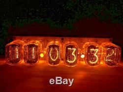 Big Nixie Tube Assemblé Horloge De Bureau Et Calendrier Vintage In-12 X 6 Russe