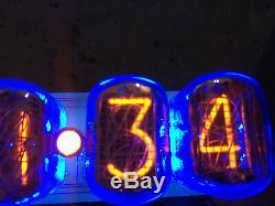 Big Nixie Tube Assemblé Horloge De Bureau Et Calendrier Vintage In-12 X 6 Russie