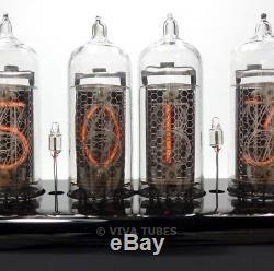Boîtier En Acrylique Noir Multicolore Avec Horloge À Tubes Nixie Blacklight À 6 Chiffres