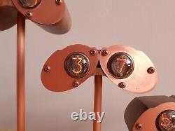 Boîtier Mural En Noyer Et Cuivre Nixie Clock Avec Tubes Philips Zm1020 De Monjibox