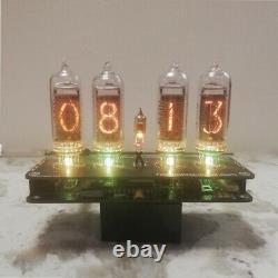 Bricolage Avec Nouveaux Tubes Nixie Clock 4x In-14+in3 Rgb Alarme De Rétroéclairage Toutes Les Pièces
