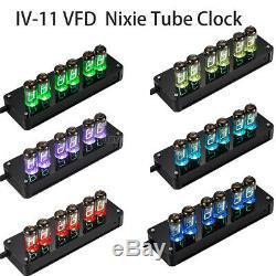 Bureau Vintage 6 × Iv-11 (-11) Tubes Nixie Horloge Vfd Horloge Numérique Assemblé Cadeaux