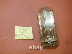 Burroughs B7971 Énorme Tube À Vide Nixie Vintage Compteur D'horloge Teste Bon Lot 58