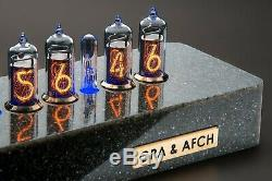 Case Synthétique Granite Pour Nixie Tubes Horloge In-14 In-8 (8-2) Z573 Gra & Afch
