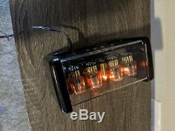 Chronix 4 X In-12 Tubes Nixie Horloge D'alarme Avec Des Lumières Orange Et Boîtier Noir