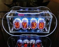Clear Nixie Horloge Avec Des Tubes In-12 Full Color Backlight