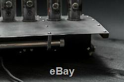 Dc-3 Horloge De Tube Nixie Dans Le Cas De L'aluminium Sur Les Tubes-18 Dans Le Paquet Premium