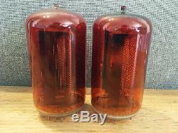 Deux Rares Wf Rft Z568m Vintage Rouge Nixie Numérique Tubes Horloge Diy