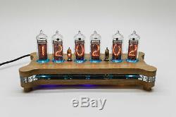 Diy Kit In-nixie Alena 14 Tubes Horloge De Bureau + Cas + Alimentation + À Distance
