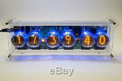 Diy Kit Sonya Nixie In-4 Tubes Horloge De Bureau + Cas + Alimentation + Télécommande + Rgb