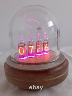 Dôme De Verre In14 Tubes Nixie Horloge Uhr Par Monjibox Nixie