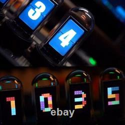 Elekstube Ips 10 Bit Rgb Nixie Tube Diy Electronic Digital Led Glows Desk Clock