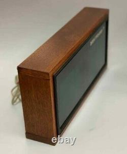 Elektronika 7 Soviet Vintage Digital Nixie Tube Horloge En Bois Urss