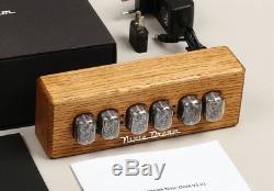 En 12 Nixie Horloge Tubes En Bois Boîtier Replaceable Contrôlée Assemblé Remotely