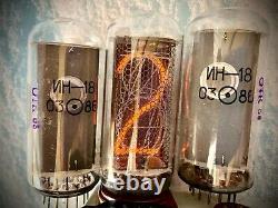 En-18 In18 -18 Nixie Tube Pour Horloge, Vintage, Même Date, Lot 6 Pcs